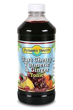Dynamic Health Tart Cherry Turmeric and Ginger Tonic Supplement 16 Ounce *** ** AMAZON BEST BUY **