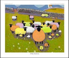 """Képtalálat a következőre: """"thomas joseph sheep"""" Dolly Mixture, Psychedelic Drawings, Sheep Art, Naive Art, Cool Pets, Whimsical Art, Art Techniques, Illustrations, Pet Birds"""