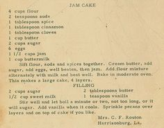 Roots from the Bayou : Family Recipe Friday - Jam Cake #genealogy #familyhistory
