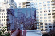 Dear Photograph, Oh, how the views change. Dear Photograph, Labo Photo, Digital News, Time Photography, Present Day, Old Photos, New York City, Polaroid Film, Cool Stuff