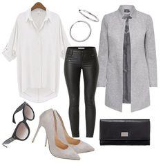 oversize grey outfit Outfit für Damen zum Nachshoppen auf Stylaholic