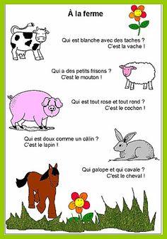 Poésie des animaux de la ferme