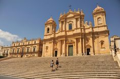 The baroque perfection of Noto.   #Sicily #Noto #travel #traveller #explore #TheThinkingTraveller #cathedral #baroque #style