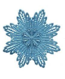 Extra Large Light Blue Dresden Foil Filligree Snowflake or Halo ~ 1