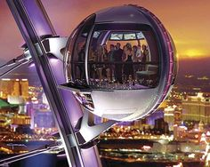 High Roller Wheel in Las Vegas!  I want to ride this at night the next time we go to Vegas!