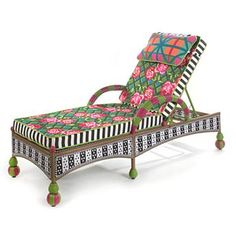 Greenhouse Outdoor Chaise - this would be lovely on my patio!
