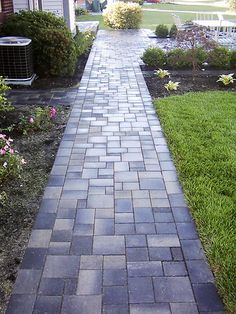 Inspiring Paths and Paving For Maximum Curb Appeal | Paver walkway ...