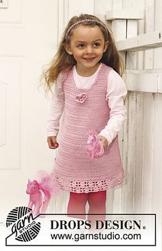 Craft Passions: Dress with lace pattern.# free # crochet pattern l...