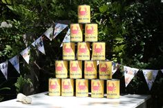 seems weird to have cans of opium at a children's party... but still cute :D