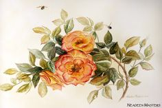 Painting Roses In Watercolour by Neadeen Masters - Art Apprentice Online