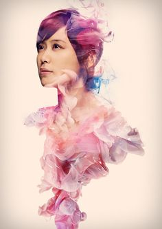 Really like the work of Alberto Seveso, and his high-speed photographs of ink mixing with water. I love how his mix that with portrait pictures for the Ayaka EP covers..