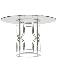 Nickel & Glass Top Dining Table – Allissias Attic & Vintage French Style