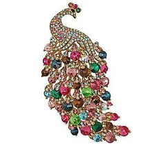 Kirks Folly Multi-Colored Peacock Pin