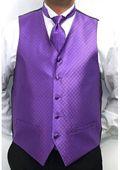 mens tuxedos for weddings purple | SKU#VU5640 Men's Four-piece Vest Set Purple $75