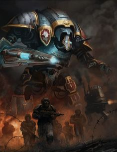 Chainbreaker Freeblade Imperial Knight by Catherine O'Connor Warhammer 40k Memes, Warhammer Art, Warhammer Fantasy, Warhammer 40000, 40k Imperial Guard, Imperial Knight, Knight Art, Space Wolves, Game Workshop