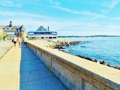 The Wall - Narragansett, Rhode Island. Where we walk after dinner most nights.