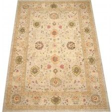 This is such a beautiful large handmade oriental rug.The pattern in this neutral colored beige/earth area rug will add colorful warmth and comfort to any large room. Intricately detailed floor covering worth every cent!