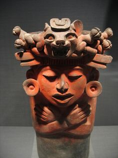 Urn with Human Figure-Mexico-Monte Alban, Late I to Early III, 300 B.C.-200