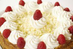 Driscoll's White Chocolate Raspberry Cheesecake www.driscolls.com