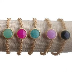 Chain and Stone Bracelets - choose your favorite colors!