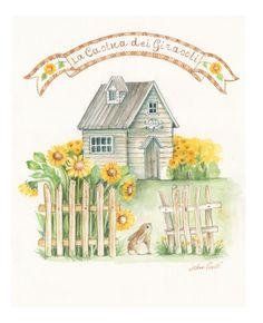 Sunflowers little cottage