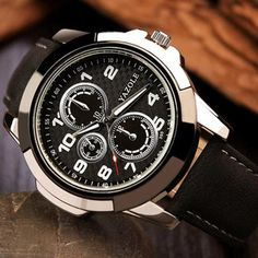 Cheap masculino, Buy Quality masculinos relogios directly from China masculino watch Suppliers: YAZOLE 2017 Sport Watch Men Watches Top Brand Luxury Famous Male Clock Quartz Watch Wrist Hodinky Quartz-watch Relogio Masculino Mens Sport Watches, Mens Watches Leather, Leather Men, Watches For Men, Wrist Watches, Leather Belts, Men's Watches, Popular Watches, Luxury Watches