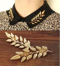 New fashion brooch pins Leaves collar tips gold-color lapel pins collar pin up harajuku Jewelry hijab pins broches mujer Jewelry Sets, Women Jewelry, Jewelry Watches, Fine Jewelry, Cheap Jewelry, Jewelry Rings, Jewelry Making, Fashion Accessories, Fashion Jewelry