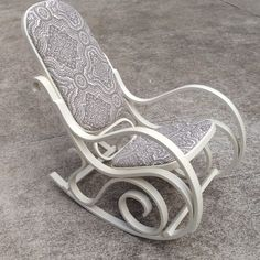 Chalk painted and reupholstered bentwood rocker                                                                                                                                                      More