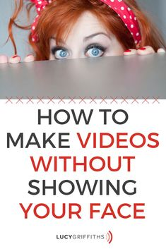Video without showing your face can be done.Being on camera can be intimidating and nerve-wracking but you can create video without showing your face. Social Media Cheat Sheet, Social Media Tips, Social Media Marketing, Making Money On Youtube, Made Video, Business Inspiration, Work From Home Moms, Online Work, Starting A Business