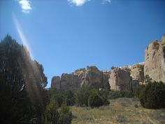 Inspiration Rock in El Malpais National Forest near Grants, NM