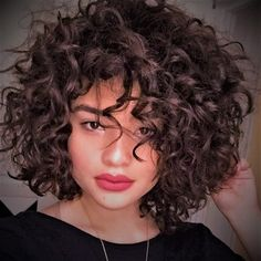 Short Curly Hairstyles For Women, Curly Hair With Bangs, Haircuts For Curly Hair, Hairstyles With Bangs, Girl Hairstyles, Short Natural Curly Hairstyles, Teenage Hairstyles, Braid Hairstyles, Wavy Hair