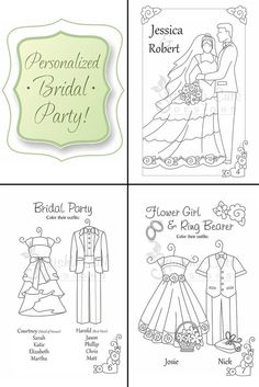 Wedding Coloring Book Kids Favors By SquishyCuteDesigns