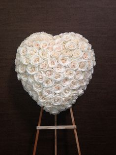 Send Memorial Heart in Santa Fe Springs, CA from Le Fleur Floral Couture, the best florist in Santa Fe Springs. All flowers are hand delivered and same day delivery may be available. Casket Flowers, Grave Flowers, Cemetery Flowers, Funeral Flowers, Funeral Floral Arrangements, Large Flower Arrangements, Funeral Sprays, Memorial Flowers, Sympathy Flowers