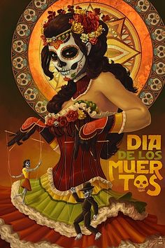 This is all illustration and I think it looks so incredably cool. The coloring and look makes me think of Dia de los Muertos. It has a very mexican/spanish look to it and I think as a poster it works really well. Everything goes together really well in this piece and works well together. Even the font choice works with the piece.