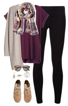"""""""maroon"""" by classically-preppy ❤ liked on Polyvore featuring James Perse, rag & bone, MANGO, H&M, Sole Society, Yves Saint Laurent, J.Crew and Burt's Bees"""