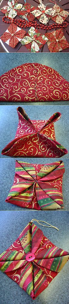 Katrina's Tutorials: Fabric Ornament Number Two