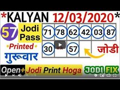 Kalyan single Jodi trick don't miss Girl Number For Friendship, Play Online, Website Link, App, Games, Youtube, Touch, Apps, Gaming