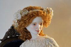 Sophie.Porcelain doll by Oksana Saharova. collection  Muses by Alphonse Mucha. Porcelain, 65cm