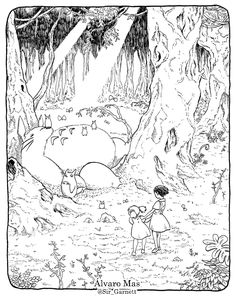 totoro coloring pages to download and print for free | desenhos e ... - Neighbor Totoro Coloring Pages