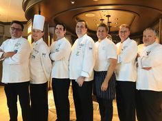 The Princess Cruise Line culinary team at the fine dining restaurant SHARE onboard the Emerald Princess. Chef Job Description, Chef Jobs, Princess Cruises, Executive Chef, Fine Dining, Chef Jackets, Stone, Chefs, Emerald