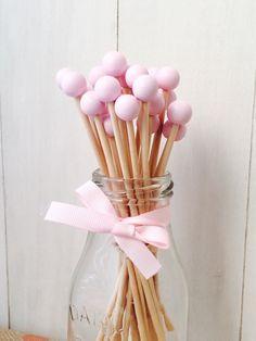 "6"" Ball Wooden Sticks for Rock Candy, Cake Pop - Set of 24"
