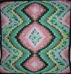 Bargello Quilt in this manner, can be worked with crochet Bargello Patterns, Bargello Quilts, Look Back At Me, Quilt Top, Fun Crafts, Bohemian Rug, Crochet Blankets, Sewing, Creative