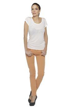 Pantalon femme tendance KAPORAL 5 QUINZE - MANDARINE - 27,00 € | Destockjean's