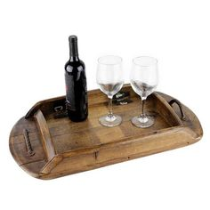 This Beautiful Rustic Serving Tray is made from an old and very rare reclaimed Remy-Martin Brandy French Oak Barrel Lid (Head). Perfect for breakfast in bed on a cold winter day! #bourbonandboots #madeinthsouth #southernliving #southernstuff #southerngifts #servingtray #entertaining #party