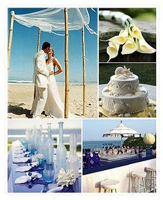 A wedding at sea, a deco wedding Nature.
