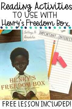 Are you looking for a free activity to use with the read aloud Henry's Freedom Box? This list of different reading activities to use with this book will engage your students any month or during Black History Month this February. Students will critically think about the book and the events that take place. Use this one book many ways with your kids. Perfect for upper elementary kids-3rd, 4th, 5th and even middle school students. Click to grab the FREE activities and read the blog post today!