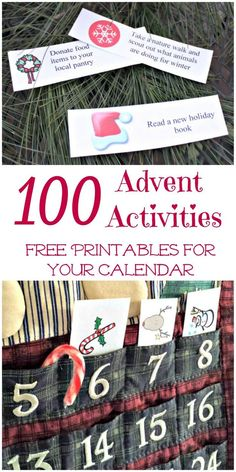 100 Advent Calendar Activities and Ideas {free printables!} : Awesome list of family outings, movies, volunteer ideas & favorite Christmas activities perfect for any Advent calendar or countdown! Advent Calendar Fillers, Advent Calendar Activities, Advent Calendars For Kids, Kids Calendar, Diy Advent Calendar, Calendar Ideas, Calendar Printable, Homemade Advent Calendars, Christmas Books