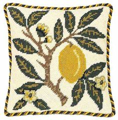 Beth Russell Needlepoint - Fruit Collection - Lemon Pillow/Picture - Kit