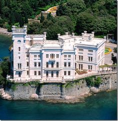 Miramare Castle is a 19th-century castle on the Gulf of Trieste near Trieste, northeastern Italy.