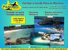 Aprovecha en esta Semana Santa y hechate un bañito de playa en Isla de Plata Parque Nacional Mochima